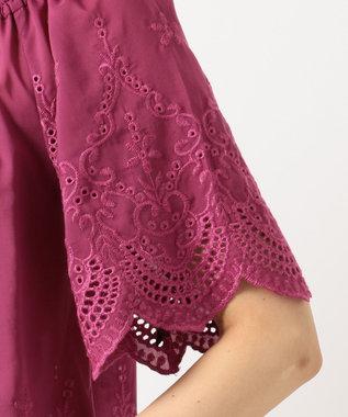 any FAM 【WEB限定】スカラップ刺繍 ブラウス ピンク系