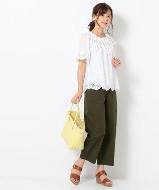 any FAM 【WEB限定】スカラップ刺繍 ブラウス アイボリー系