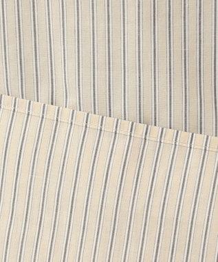 J.PRESS LADIES 【洗える】コットンキュプラストライプ ブラウス ベージュ系1