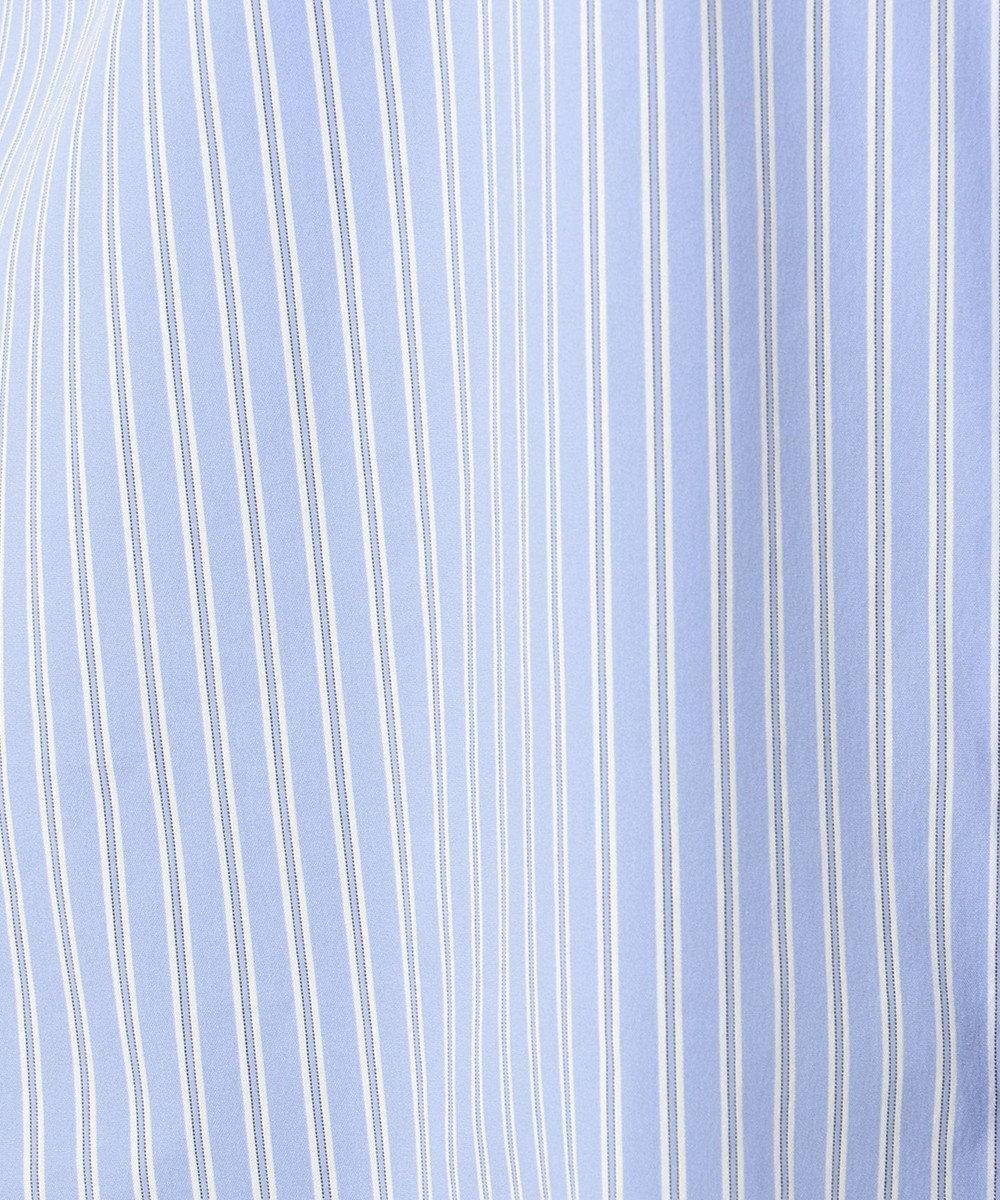 J.PRESS LADIES L 【伸縮性素材】SOMELOS JOYCE バンドカラー ブラウス サックスブルー系1
