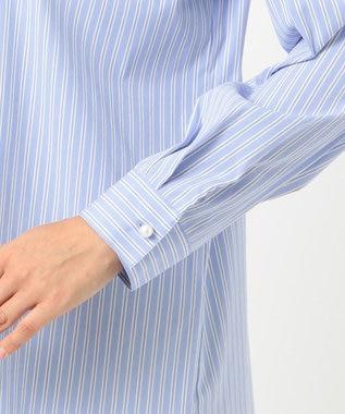 J.PRESS LADIES S 【伸縮性素材】SOMELOS JOYCE レギュラーカラー ブラウス サックスブルー系1
