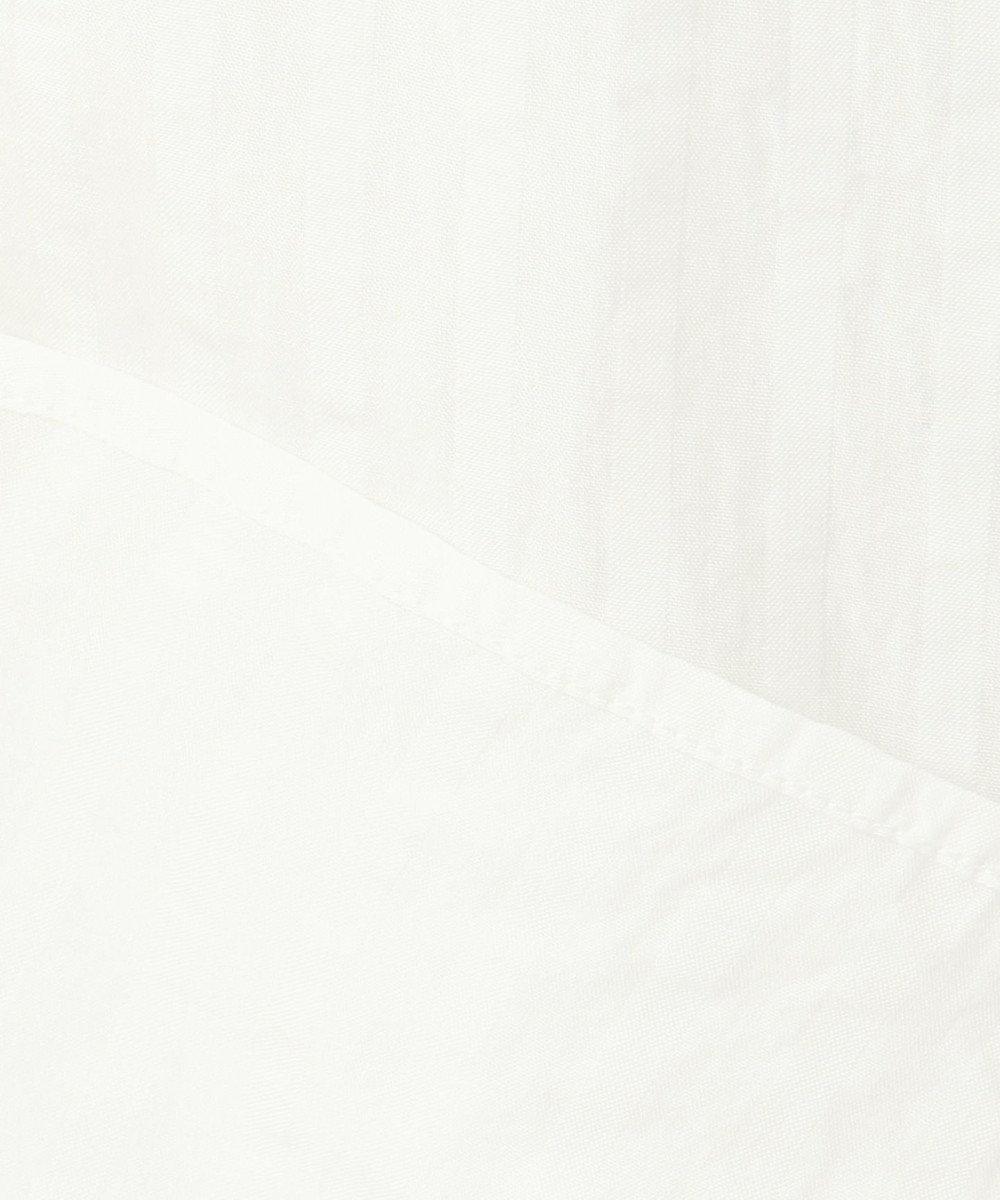 J.PRESS LADIES S 【洗える】シャドーストライプバンドカラー ブラウス ホワイト系1