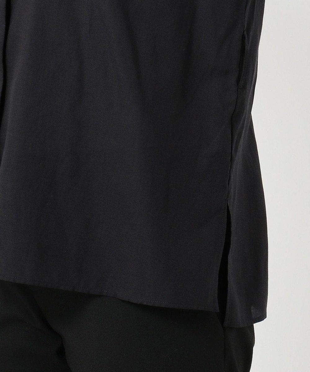 J.PRESS LADIES L 【洗える】セルロース綿麻スラブローン ブラウス ブラック系