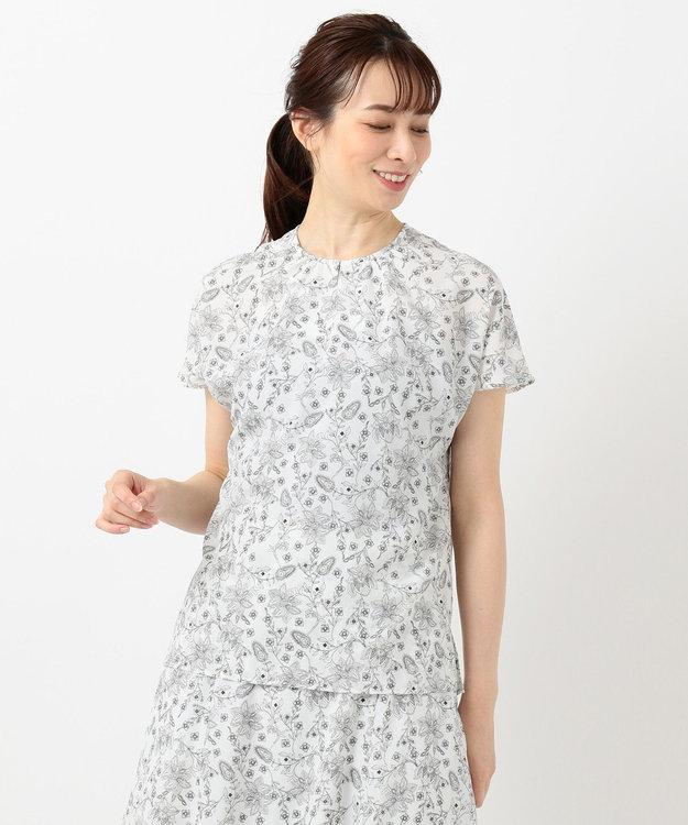 J.PRESS LADIES 【洗える】ポリエステルデシン更紗プリント ブラウス