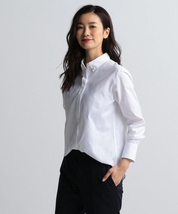 J.PRESS LADIES 【洗える!】スビンゴールド ボタンダウンシャツ
