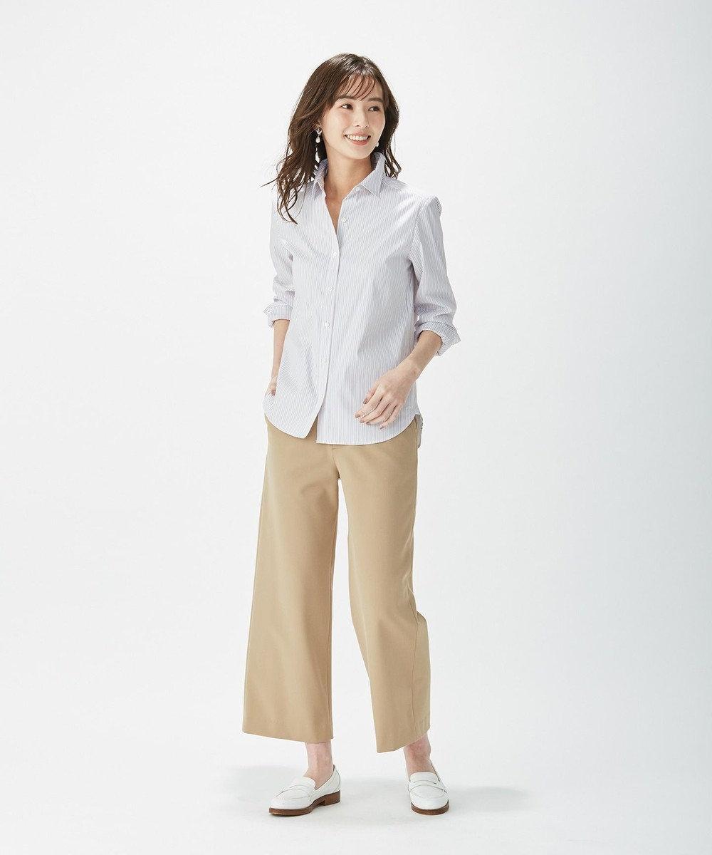 J.PRESS LADIES 【洗える】SOMELOS JOYCE レギュラーカラー シャツ ピンク系1