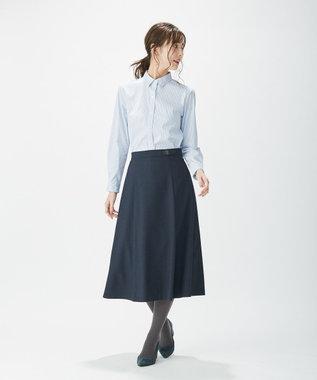 J.PRESS LADIES 【洗える】SOMELOS JOYCE レギュラーカラー シャツ スモーキーグリーン系1