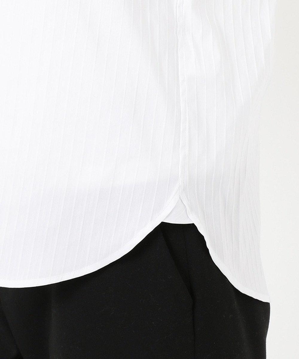J.PRESS LADIES S 【洗える】コットンナイロンドビーストレッチ レギュラーカラー ブラウス ホワイト系1