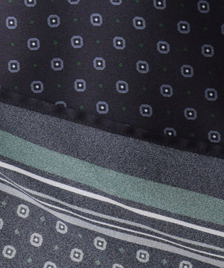 J.PRESS LADIES S 【洗える】小紋スカーフプリント ボウタイ ブラウス ネイビー系5