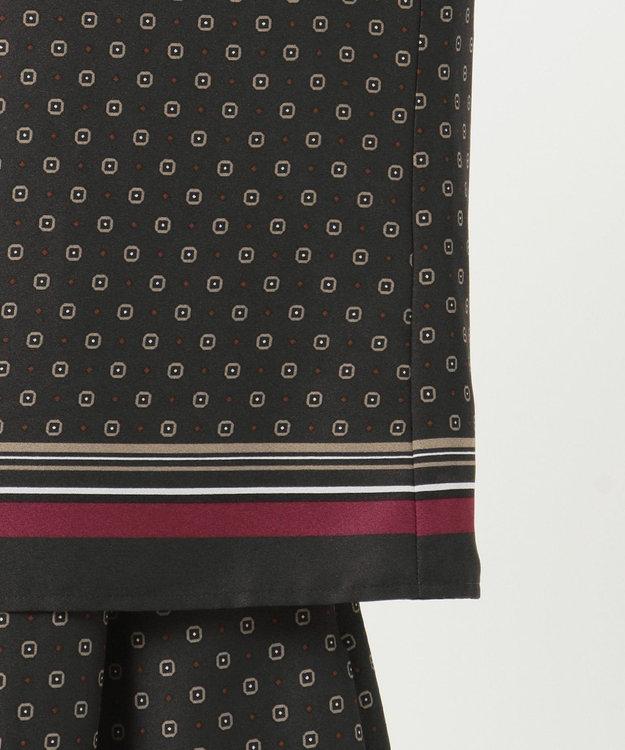 J.PRESS LADIES S 【洗える】小紋スカーフプリント ボウタイ ブラウス