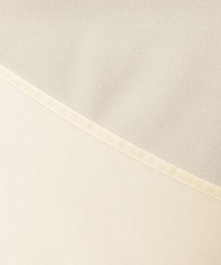 J.PRESS LADIES 【洗える】ピーチサテン ギャザー ブラウス アイボリー系