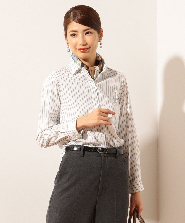 J.PRESS LADIES SOMELOS JOYCE ストライプ シャツ
