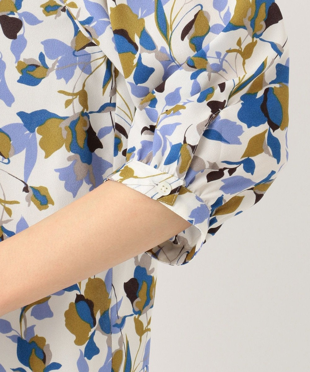 J.PRESS LADIES L 【洗える】COLLAGE FLOWERプリント ブラウス ホワイト系5