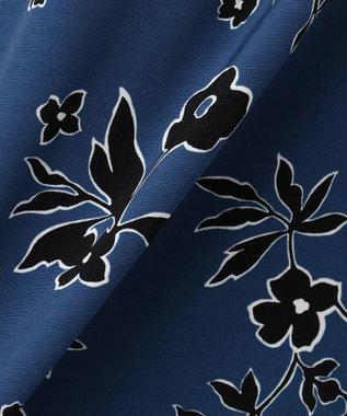 J.PRESS LADIES S 【セットアップ対応】モダンフラワープリント ブラウス ブルー系6