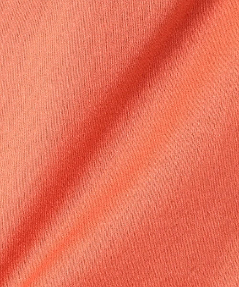 J.PRESS LADIES 【洗える】60コットンテンセルローン ドロストブラウス オレンジ系