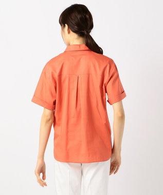 J.PRESS LADIES L 【洗える】60コットンテンセルローン シャツ オレンジ系