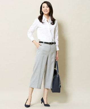 J.PRESS LADIES 【洗える!】スビンゴールド レギュラーカラーシャツ ホワイト系