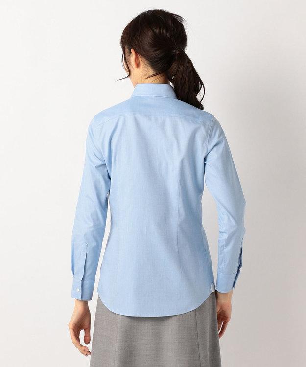 J.PRESS LADIES 【洗える!】スビンゴールド レギュラーカラーシャツ