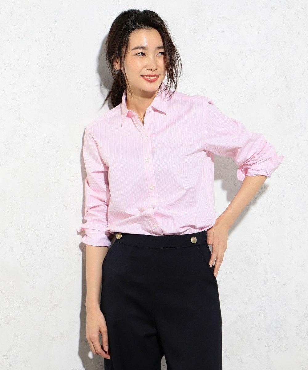 J.PRESS LADIES 【洗える!】SOMELOS レギュラーカラーシャツ ピンク系