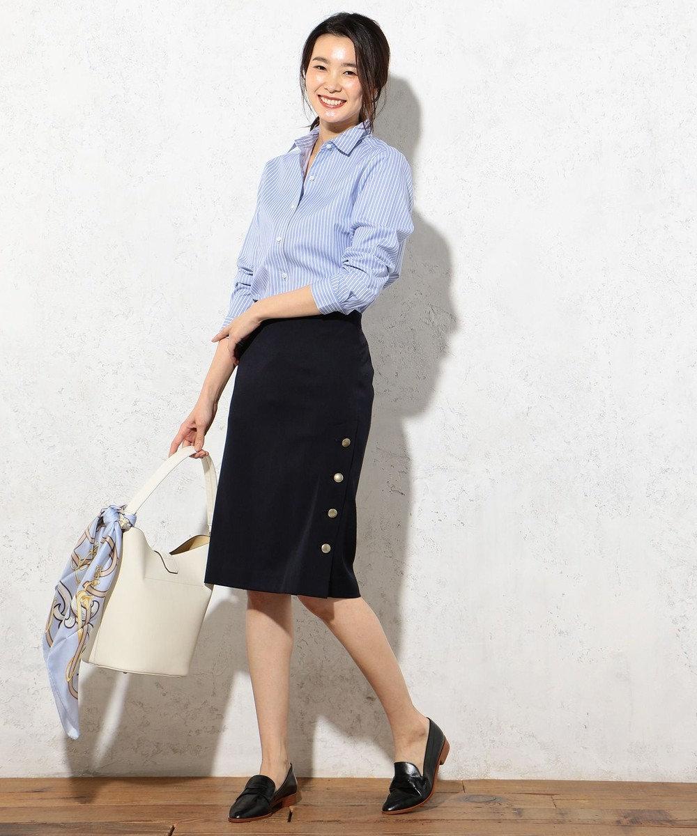J.PRESS LADIES S 【洗える!】SOMELOS レギュラーカラーシャツ サックスブルー系