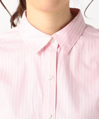 J.PRESS LADIES S 【洗える!】SOMELOS レギュラーカラーシャツ ピンク系
