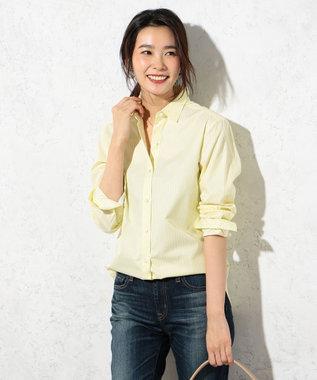 J.PRESS LADIES S 【洗える!】SOMELOS レギュラーカラーシャツ イエロー系
