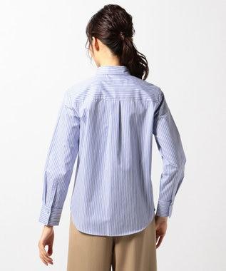 J.PRESS LADIES S 【洗える!】SOMELOS ボタンダウンシャツ サックスブルー系