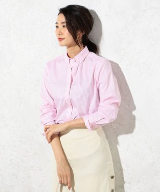 J.PRESS LADIES S 【洗える!】SOMELOS ボタンダウンシャツ ピンク系