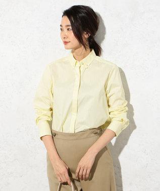 J.PRESS LADIES S 【洗える!】SOMELOS ボタンダウンシャツ イエロー系