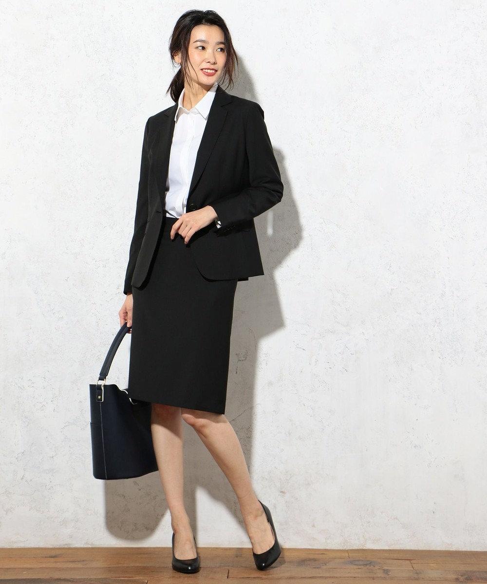 J.PRESS LADIES L 【洗える!】コットンハイパワーブロード レギュラーカラーシャツ ホワイト系