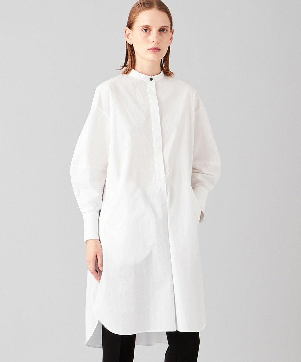 JOSEPH 【洗える】コットンルーズシャツ ロング シャツ ホワイト系