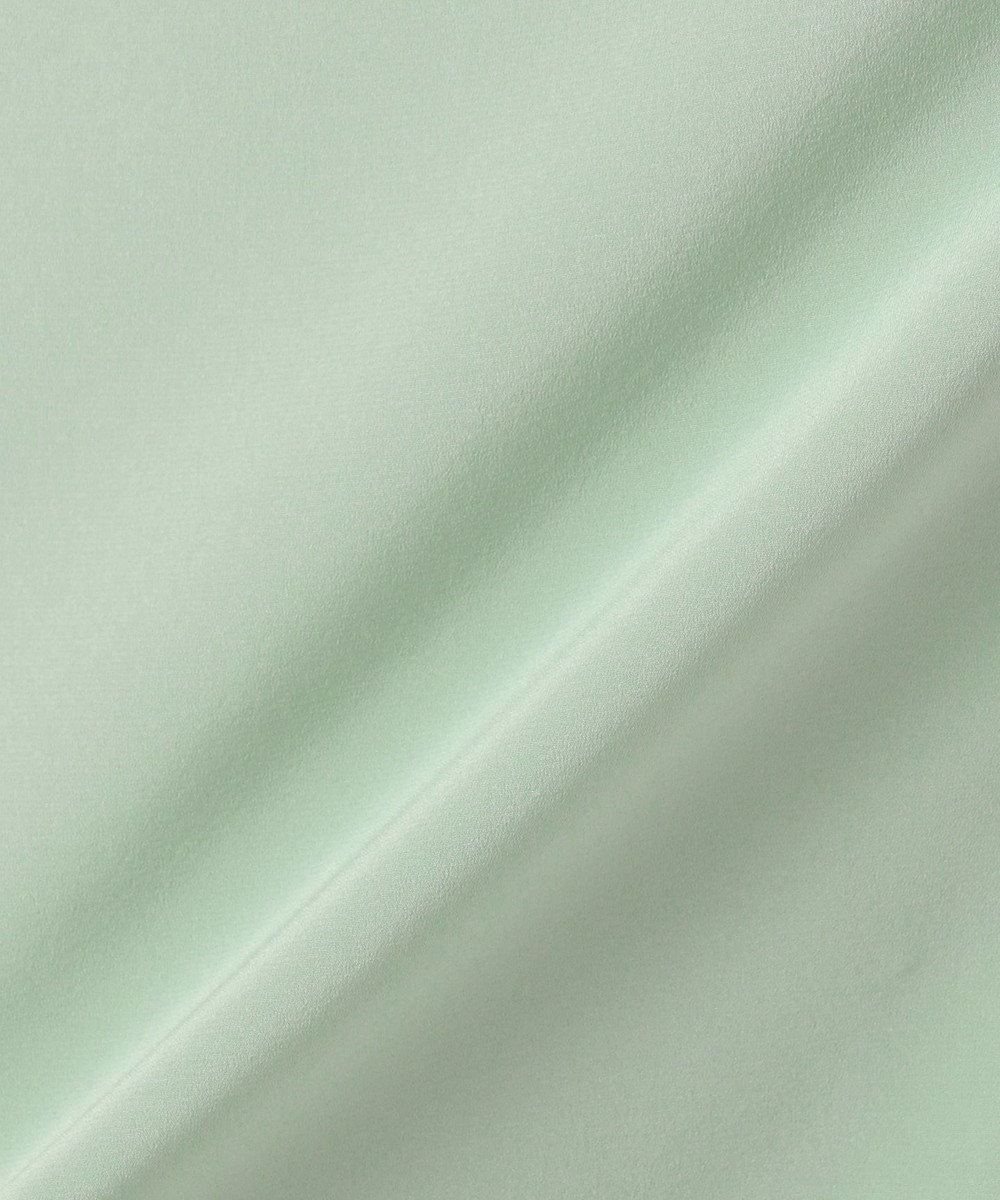 JOSEPH 【洗える】PARLOR / SILK STRETCH ブラウス ライトグリーン系