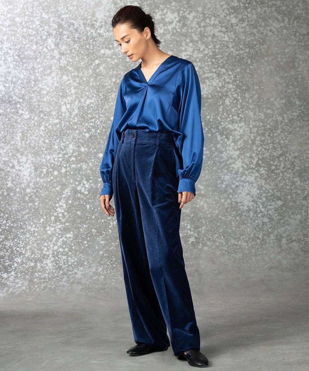 JOSEPH 【9周年記念WEB限定】MIA / STRETCH SATIN ブラウス ブルー系