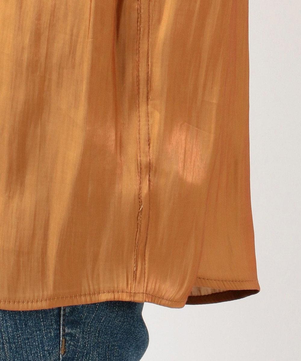 SHARE PARK LADIES 〈TODAYFUL〉クレープサテンオーバーシャツ オレンジ系
