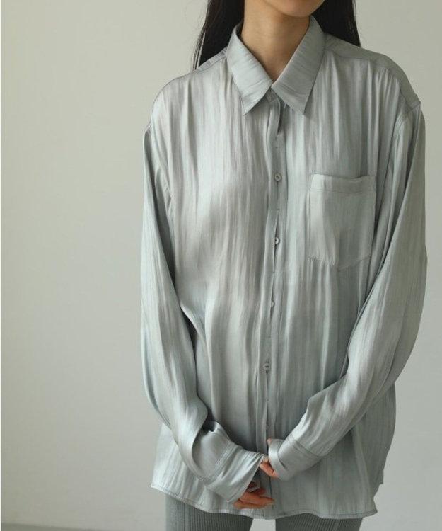 SHARE PARK LADIES 〈TODAYFUL〉クレープサテンオーバーシャツ