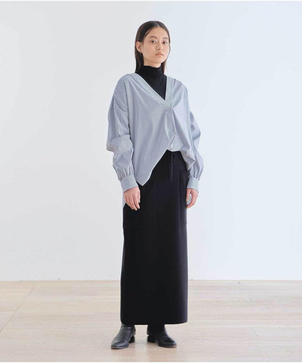 #Newans 【マガジン掲載】SOPHIE/ カフタンカラーシャツ(番号NF49) ネイビー系1