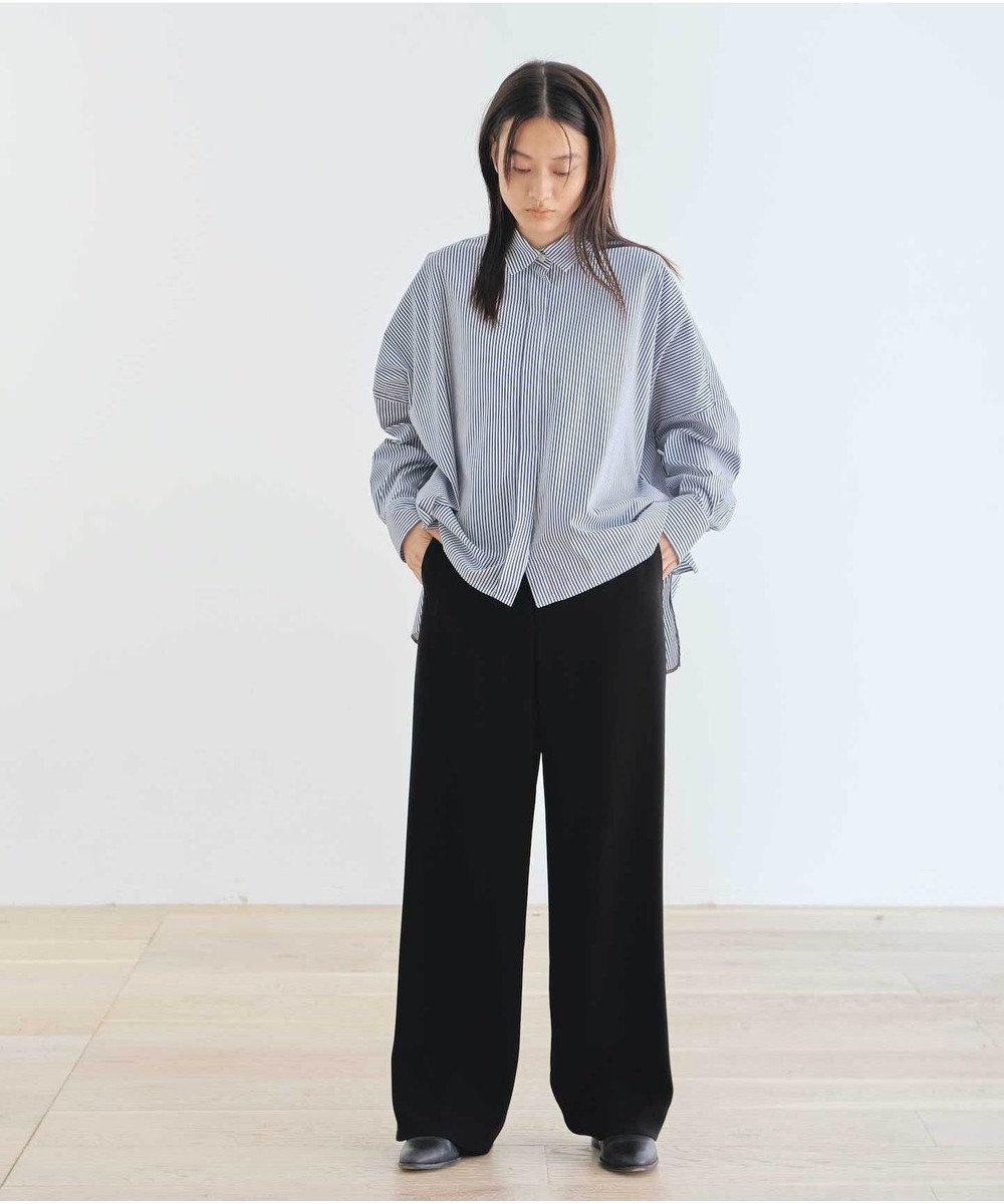 #Newans 【マガジン掲載】SOPHIE/ ワイドワイズシャツ(番号NE25) ネイビー系1