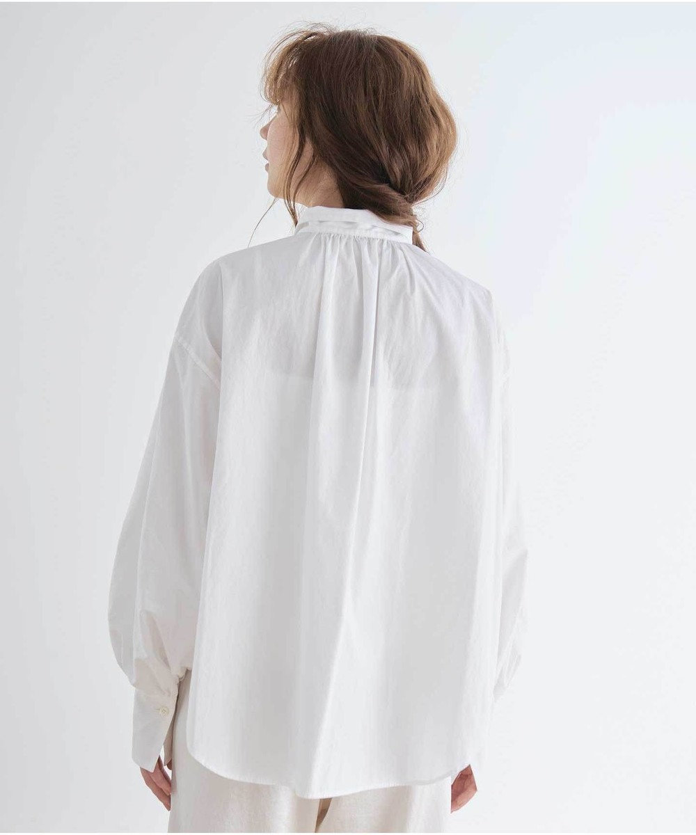 #Newans 【マガジン掲載】AUDREY/イタリアンカラーシャツ(番号NF46) ホワイト系