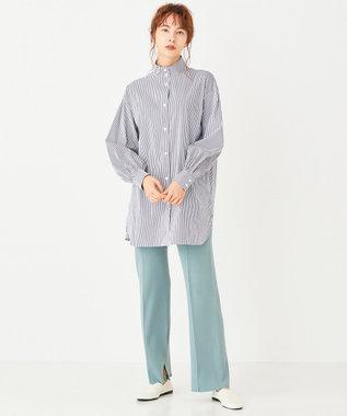 #Newans 【マガジン掲載】SOPHIE/ スタンドカラーシャツ(番号NW38) ネイビー系1
