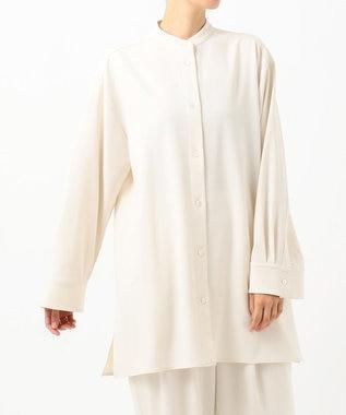 #Newans 【non-no2月号掲載】ウール混ソフトストレッチシャツ(番号:NW42) エクリュ系