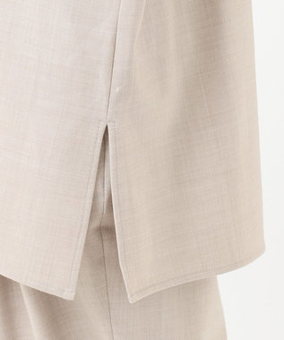 #Newans 【non-no2月号掲載】ウール混ソフトストレッチシャツ(番号:NW42) ライトベージュ系