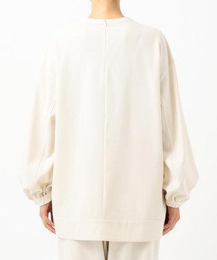 #Newans 【洗える】ウール混ソフトストレッチスモックシャツ アイボリー系