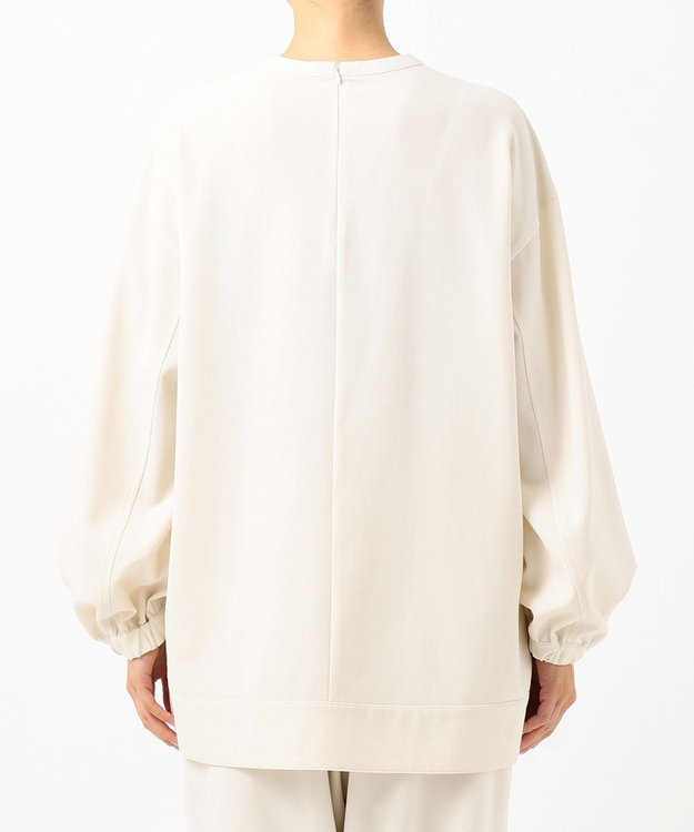 #Newans 【洗える】ウール混ソフトストレッチスモックシャツ
