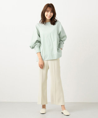 #Newans 【マガジン掲載】SOPHIE/ デフォルメスリーブシャツ(番号NF22) ライトグリーン系
