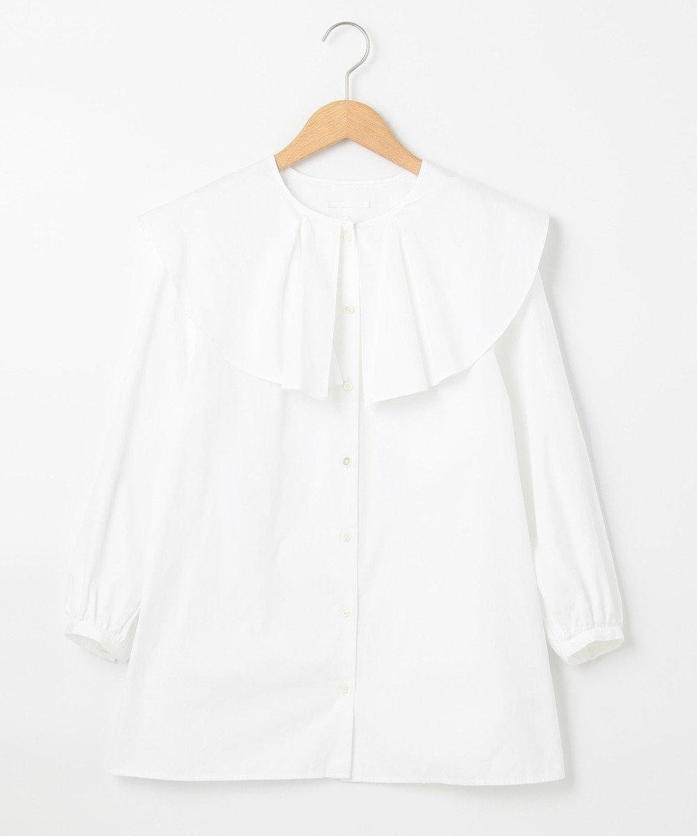 #Newans 【マガジン掲載】AUDREY/ ピーターパンカラーシャツ(番号NF24) ホワイト系
