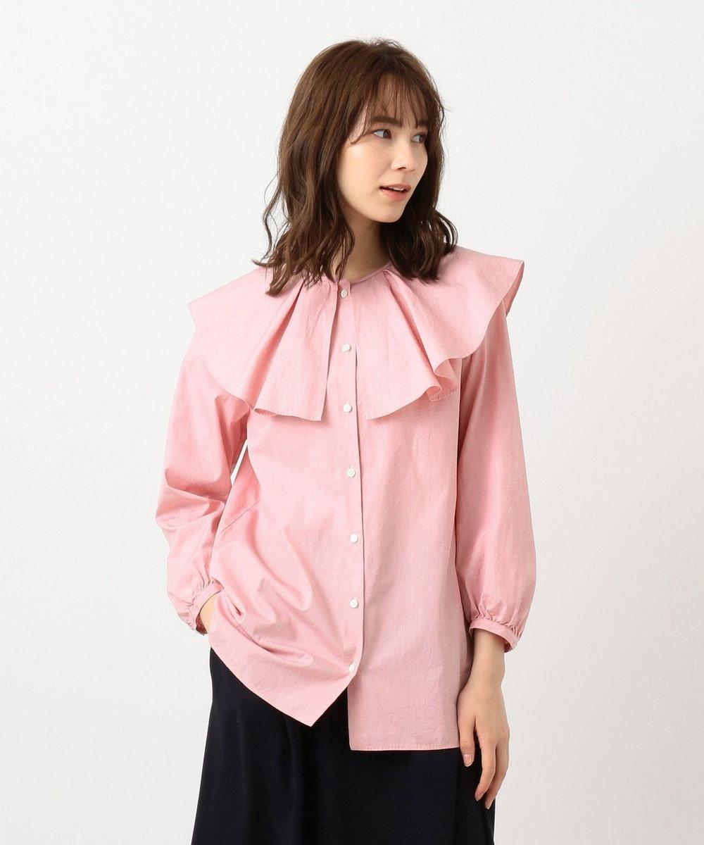 #Newans 【マガジン掲載】AUDREY/ ピーターパンカラーシャツ(番号NF24) レッド系
