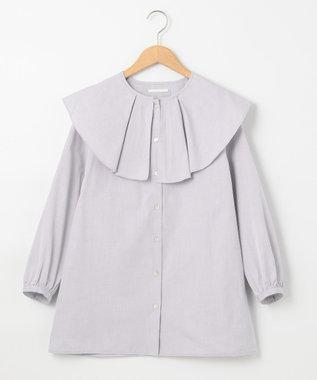 #Newans 【マガジン掲載】AUDREY/ ピーターパンカラーシャツ(番号NF24) グレー系