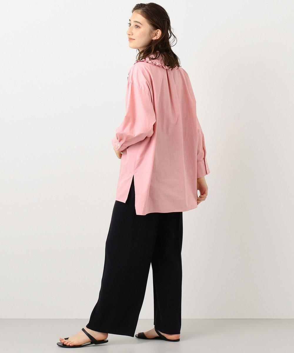 #Newans 【マガジン掲載】AUDREY/ フリルカラーシャツ(番号NF48) レッド系