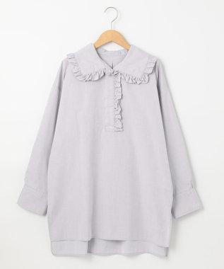 #Newans 【マガジン掲載】AUDREY/ フリルカラーシャツ(番号NF48) グレー系