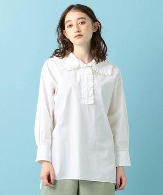 #Newans 【マガジン掲載】AUDREY/ フリルカラーシャツ(番号NF48) ホワイト系